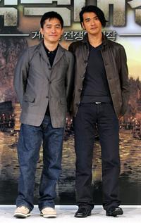 Tony Leung and Takeshi Kaneshiro at the press conference of