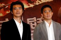 Takeshi Kaneshiro and Tony Leung Chiu-wai at the premiere of