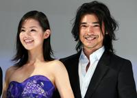 Manami Konishi and Takeshi Kaneshiro at the Japan premiere of