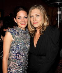 Marion Cotillard and Branka Katic at the premiere of