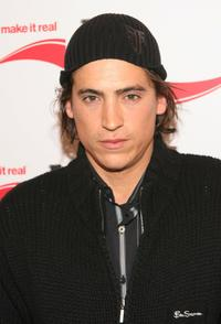 Andrew Keegan at the Coca Cola Make It Real party.