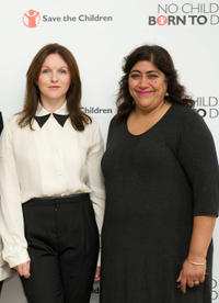 Dervla Kirwan and Gurinder Chadha at the photocall for Save The Children's
