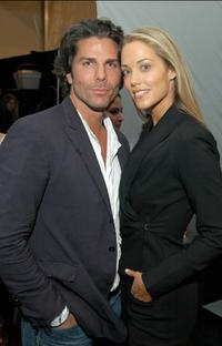 Greg Lauren and Elizabeth Berkley at the Chaiken Spring 2007 fashion show during the Olympus Fashion Week.
