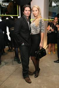Greg Lauren and Elizabeth Berkley at the benefit for Gilda's Club worldwide.