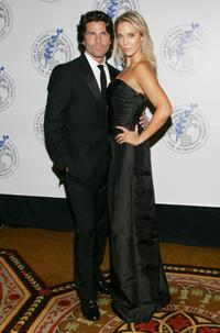 Greg Lauren and Elizabeth Berkley at the Elie Wiesel Foundation for Humanity Award Dinner.