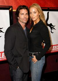 Greg Lauren and Elizabeth Berkley at the premiere of