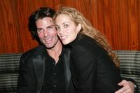Greg Lauren and Elizabeth Berkley at the Stone Rose Bar grand opening party.