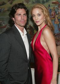 Greg Lauren and Elizabeth Berkley at the after party of the Broadway opening of