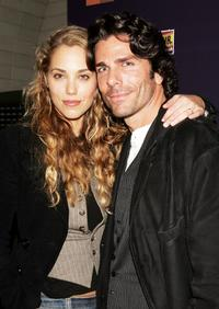 Elizabeth Berkley and Greg Lauren at the after party of