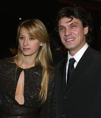 Sarah Polish and her husband Marc Lavoine at the 29th night of Caesars ceremony.