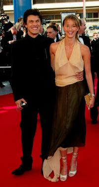 Marc Lavoine and his wife Sarah at the premiere of