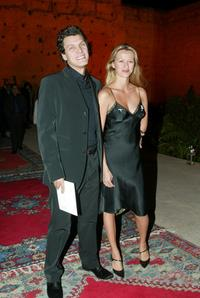 Marc Lavoine and his wife at the opening ceremony of 2nd Marrakech International Film Festival.