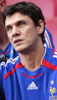 Marc Lavoine at the World Cup 2006 group G football match Togo vs France.