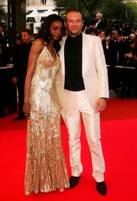 Daniela Beye and Samuel Le Bihan at the premiere of