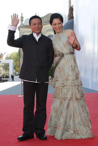 Lee Kang-Sheng and Yin Shin at the Italy premiere of