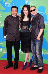 Lee Kang-Sheng, Yin Shin and Tsai Ming-Liang at the 64th Venice Film Festival.