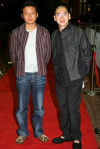 Lee Kang-Sheng and Tsai Ming-Liang at the premiere of