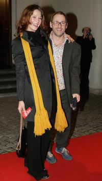 Jessica Schwarz and Director Dani Levy at the Berlin premiere of