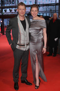 Andreas Lust and Franziska Weisz at the photocall of