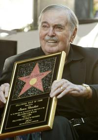 James Doohan at the star on the Hollywood Walk of Fame August 31, 2004 in Los Angeles.