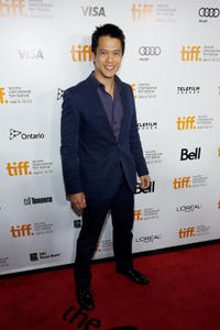 Byron Mann at the premiere of