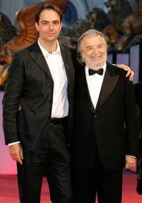 Neri Marcore and Pupi Avati at the premiere of
