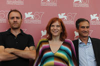 Valerio Mastandrea, Susanna Nicchiarelli and Dario Edoardo Vigano at the 67th Venice Film Festival.