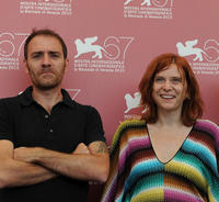 Valerio Mastandrea and Susanna Nicchiarelli at the 67th Venice Film Festival.