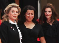 Catherine Deneuve, director Marjane Satrapi and Chiara Mastroianni at the premiere of