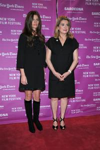 Chiara Mastroianni and Catherine Deneuve at the premiere of