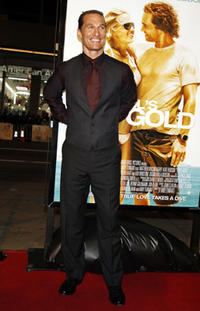 Actor Matthew McConaughey at the Hollywood premiere of