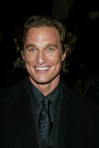 Matthew McConaughey at the screening of