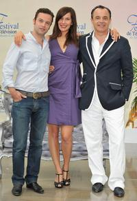 Patrick Mille, Zoe Felix and Marc Rioufol at the photocall of