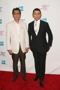 Director Yojiro Takita and Masahiro Motoki at the premiere of