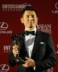 Masahiro Motoki at the Third Asian Film Awards Ceremony.