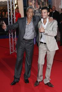 Samy Naceri and Guest at the premiere of