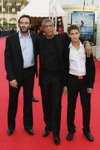 Anthony Delon, Samy Naceri and his son Julien at the premiere of