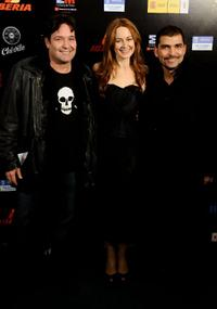 Jorge Perugorria, Cuca Escribano and Vladimir Cruz at the 15th Jose Maria Forque Cinema Awards.