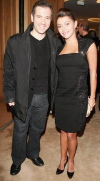 Bruno Putzulu and Emma De Caunes at the inauguration of the renovated Van Cleef And Arpels Salon.