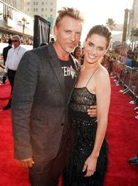 Callum Keith Rennie and Amanda Peet at the world premiere of