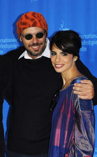 Director Jose Padilha and Maria Ribeiro at the photocall of