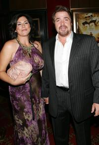 Michael Rispoli and Guest at the premiere of