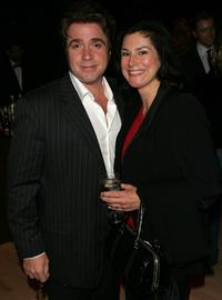 Michael Rispoli and his wife at the after party of the premiere of