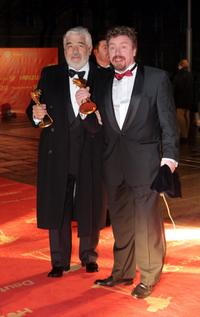 Mario Adorf and Armin Rohde at the Goldene Kamera Awards.