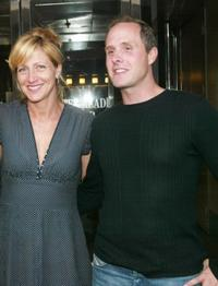 Edie Falco and Paul Schulze at the screening of