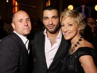 Paul Schulze, Haaz Sleiman and Edie Falco at the after party of the world premiere of