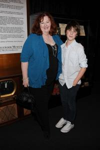 Lorna Scott and Sterling Beaumon at the Envelope's Emmy Exhibition.