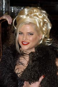 Anna Nicole Smith at the West Hollywoods celebration of