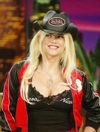 Anna Nicole Smith at the Tonight Show with Jay Leno.