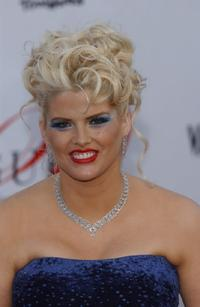 Anna Nicole Smith at the Vanity Fairs Guess 20th Anniversary Party.
